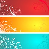 Floral panels Stock Photography