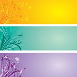 Floral panels Stock Photo