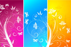 Floral panels Stock Image