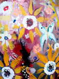 Floral panting Stock Images