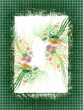 Floral Paper. This is a paper collage with a floral design vector illustration