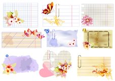 Floral paper banners vector set for design Stock Image