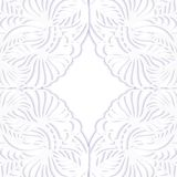 Floral paper frame. On white background.Template for your design Stock Photography