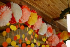 Floral paper garland Stock Image