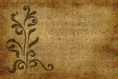 Floral paper grunge design Stock Image