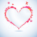 Floral paper heart Royalty Free Stock Photos