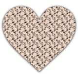 Floral paper heart Royalty Free Stock Image