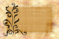 Floral paper parchment texture royalty free illustration