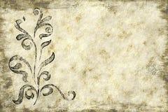 Floral paper parchment texture Stock Photography