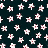 Floral paradise tropic seamless pattern. Floral paradise hand drawn tropic seamless pattern. Vector illustration Stock Photography
