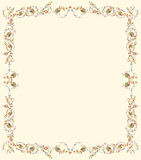 Floral parchment Royalty Free Stock Image