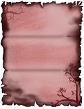 Floral parchment. Red floral parchment with burned edges for letters or background or valentines day Royalty Free Stock Photography