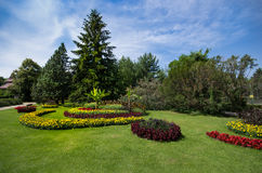 Floral park Stock Image