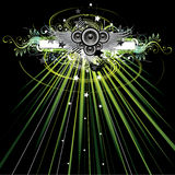 Floral party lights royalty free illustration