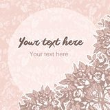 Floral Pastel Background Stock Photography