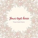 Floral Pastel Background Royalty Free Stock Photography