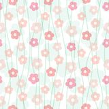 Floral pastel seamless pattern Stock Photos