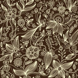 Floral pattern. Vector floral pattern, stylish wallpaper Stock Photography