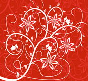 Floral pattern. Abstract floral pattern. Vector illustration Stock Photo