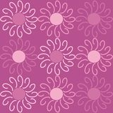Floral pattern. Violet background with flowers Stock Illustration