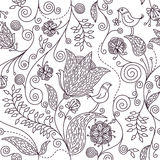 Floral pattern. Vector floral pattern, stylish wallpaper Stock Images