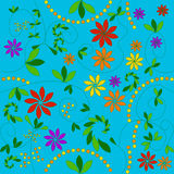 Floral pattern. That matches from all sides vector illustration