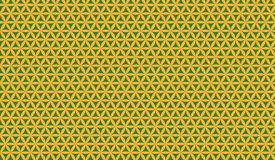 Floral pattern. Illustration of a green and yellow floral pattern Vector Illustration
