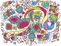 Floral pattern. Vector retro flower vector illustration