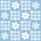Floral pattern. Pattern with blue and white flowers Vector Illustration