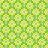 Floral pattern. A green seamless floral pattern Stock Image
