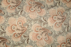 Floral Pattern. Embroidery of a floral pattern background Royalty Free Stock Photo