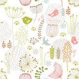 Floral pattern. Seamless background with abstract floral ornament Royalty Free Stock Photography