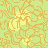 Floral pattern. Floral seamless pattern in green scale Royalty Free Stock Photo