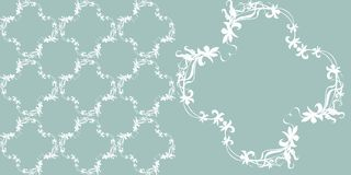 Floral pattern. Background flowers leaves Stock Photos