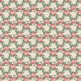 Floral pattern. Repeating floral beige, red and green pattern Stock Photo
