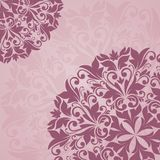Floral pattern. Vector floral pattern. Pink background Stock Photos