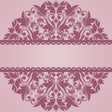 Floral pattern. Vector floral pattern. Pink background Royalty Free Stock Image