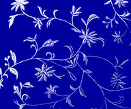 Floral pattern. A floral pattern in white and blue stock illustration