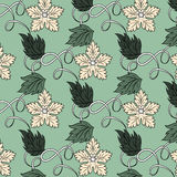 Floral pattern. Including seamless sample in swatch panel (Illustrator Royalty Free Stock Images