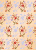 Floral pattern. Vector Illuctration of colored floral pattern on the biege background Royalty Free Stock Photos