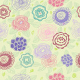 Floral pattern. Stylish floral pattern with cute flowers Royalty Free Stock Image
