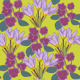 Floral pattern. Beautiful summer floral seamless pattern Stock Photo