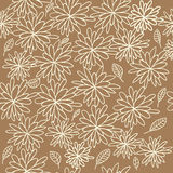 Floral pattern. Warm colored floral seamless vector pattern Royalty Free Stock Photography
