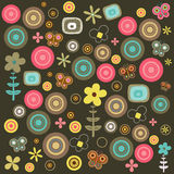 Floral pattern. An illustration of a colorful floral pattern Royalty Free Stock Photos