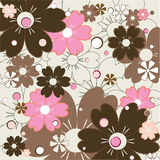 Floral Pattern. Vector illustration representing pattern with lots of interesting colorful flowers Royalty Free Stock Images