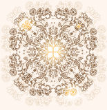 ,floral pattern. Abstract decorative stylized background with a pattern of flowers symmetric Stock Photography