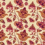 Floral pattern. Abstract flower seamless background. Floral seamless pattern. Abstract flower background. Floral seamless texture with flowers in oriental style Stock Photography