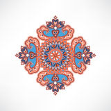 Floral pattern. Arabic ornament with fantastic flowers and leave Royalty Free Stock Photography