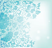 Floral pattern background. Blue floral pattern background Stock Photography