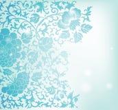Floral pattern background. Blue floral pattern background royalty free illustration
